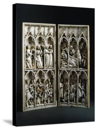 Scenes from Childhood of Christ, Diptych, Ca 1330--Stretched Canvas Print
