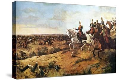 Simon Bolivar Heading His Army at Battle of Junin, August 5, 1824--Stretched Canvas Print