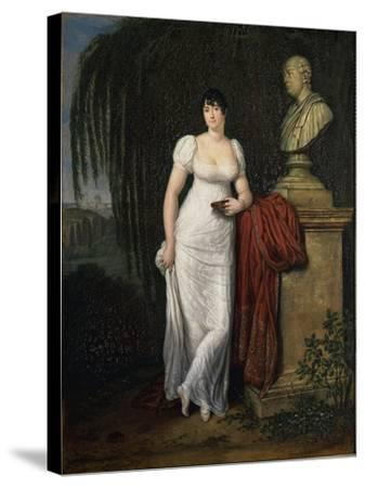 Portrait of Teresa Monti Pichler, Wife of Poet Vincenzo Monti by Carlo Labruzzi--Stretched Canvas Print