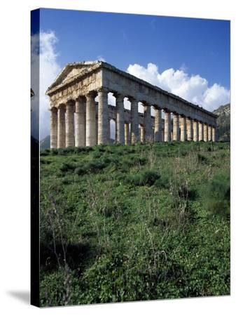 Temple of Segesta, Sicily, Italy, 5th Century BC--Stretched Canvas Print
