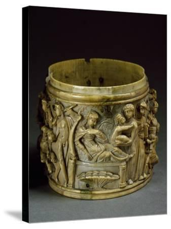 Ivory Pyx, Depicting Life of Bacchus--Stretched Canvas Print