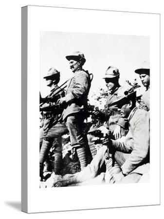 Czechoslovak Legionaries on Italian Front, Summer of 1918--Stretched Canvas Print