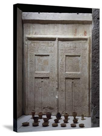 Miniature Pottery in Front of Chapel of Ky, Saqqara--Stretched Canvas Print