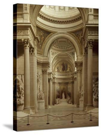 Interior of Pantheon in Paris--Stretched Canvas Print