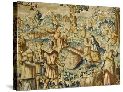 Rural Games, 16th Century Flemish Tapestry--Stretched Canvas Print