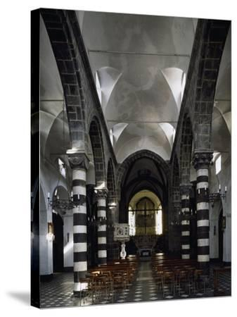 Interior of Sant Antonio Chapel in Lerici--Stretched Canvas Print