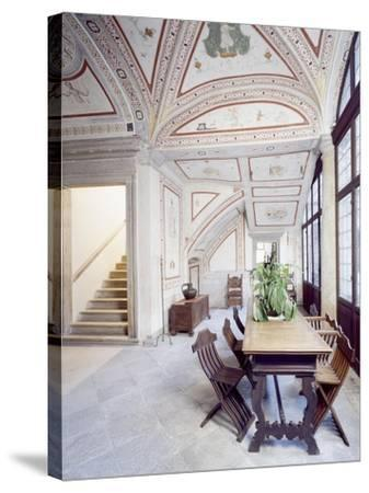 Italy, Piuro, Palazzo Vertemate Franchi, Bishop's Room Detail--Stretched Canvas Print