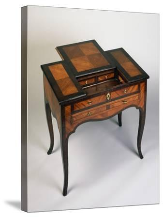 Rococo Style Writing Desk with Rosewood and Rose Veneer Finish, Venice, 1770, Italy--Stretched Canvas Print