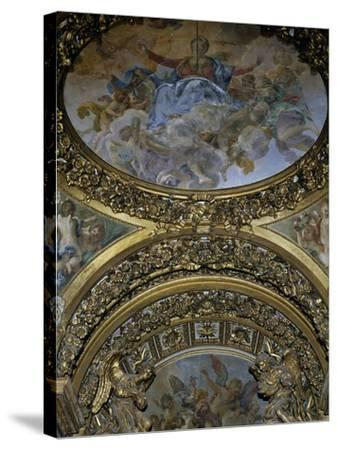 Detail of Frescoes and Decoration, Chapel of St Joseph, Church of St Mary in Campitelli--Stretched Canvas Print