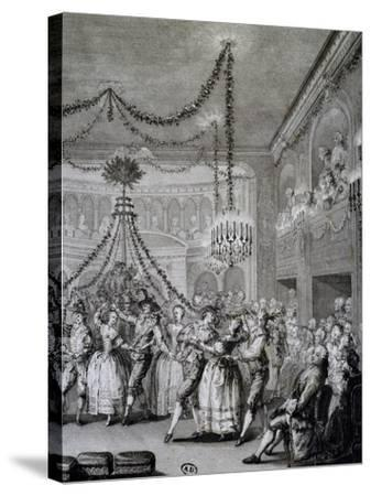 Ball at Versailles for Carnival of 1763, France--Stretched Canvas Print