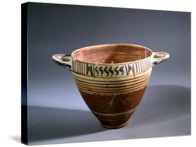 Kotyle, Protocorinthian Style Pottery, Greece--Stretched Canvas Print