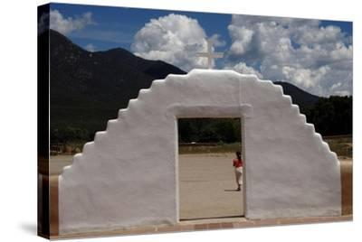United States. Taos Pueblo. Arched Entrance to the St Jerome Chapel, 1850--Stretched Canvas Print