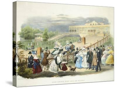 Austria, Vienna, Schonbrunn Palace, Wheelchairs Race at Tivoli Pavilion, 1831--Stretched Canvas Print