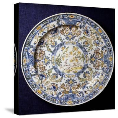 Ceremonial Plate with Sections Decorated in Berain-Style, 1736--Stretched Canvas Print