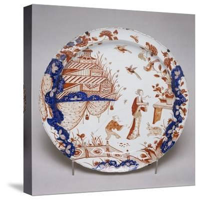 Japanese-Inspired Gold and Polychrome Plate, 1710--Stretched Canvas Print