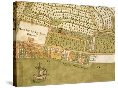 Italy, Brescia, Bogliaco Gargnano, Villa Bettoni and Park, Map--Stretched Canvas Print
