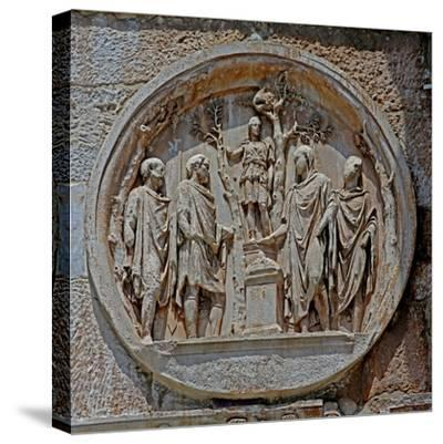 Detail from Constantine's Arch in the Colosseum--Stretched Canvas Print