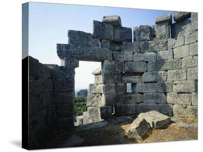 Fortifications in Messene, Greece. Greek Civilization BC--Stretched Canvas Print