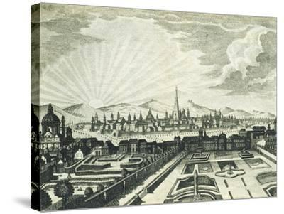 View of Vienna, Austria 18th Century Print--Stretched Canvas Print