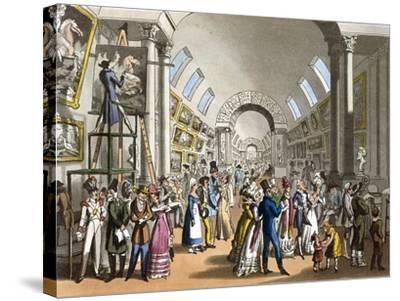 The Great Gallery of the Louvre in Paris, France 19th Century--Stretched Canvas Print