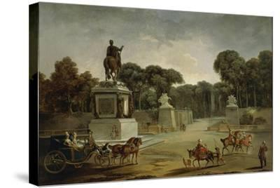 France, Entrance to Tuileries Palace in Paris in around 1775--Stretched Canvas Print