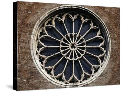 Rose Window of Church of San Francesco, Mantua, Lombardy, Italy--Stretched Canvas Print
