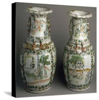 Ceramic Vases with Expanded and Lobed Mouth, China--Stretched Canvas Print