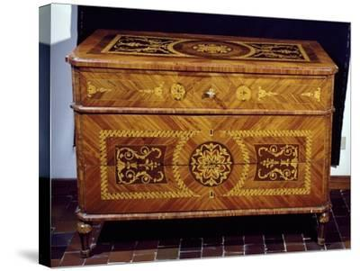 Neoclassical Style Chest, Giuseppe Maggiolini Style, Italy--Stretched Canvas Print