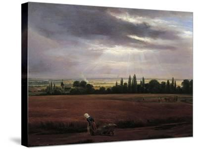 Germany, Painting of Countryside Near Dresden--Stretched Canvas Print