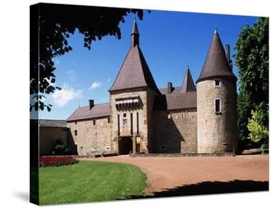 South Facade of Chateau De Corcelles, Corcelles-En-Beaujolais, Rhone-Alpes, France--Stretched Canvas Print