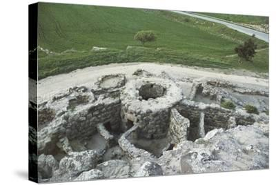 Italy, Sardinia Region, Barumini, Bronze Age Archaeological Site 'Su Nuraxi'--Stretched Canvas Print