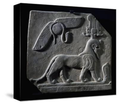 The God Tutu Trampling Cobra, Limestone, Ptolemaic Period, 4th-3rd Century BC--Stretched Canvas Print