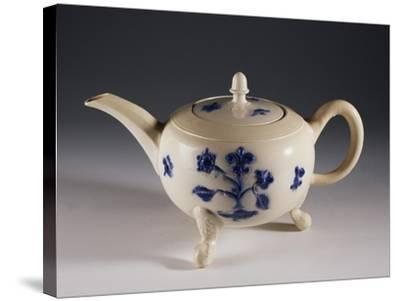 Teapot with Oriental-Inspired Floral Decorations, Ca 1740--Stretched Canvas Print