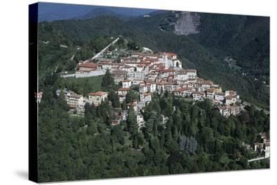 Italy, Lombardy, Varese, Sacro Monte, Aerial View--Stretched Canvas Print