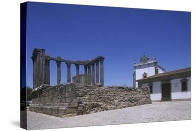 Portugal, Alentejo Region, Alto Alentejo, Evora, Roman Temple of Diana--Stretched Canvas Print