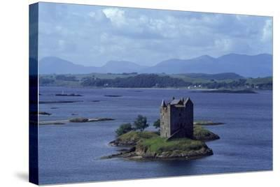 Castle Stalker on Loch Laich, Scotland, UK--Stretched Canvas Print
