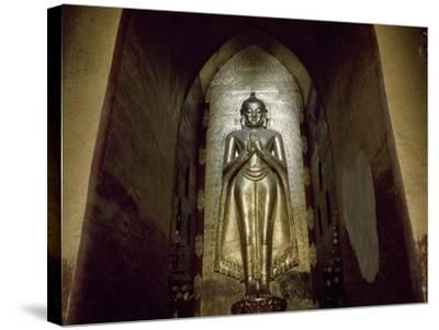 Myanmar, Bagan, Divinity Statue in Ananda Temple, 11th Century--Stretched Canvas Print