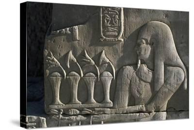 Bas-Relief, Temple of Sobek and Haroeris, Kom Ombo, Egypt--Stretched Canvas Print