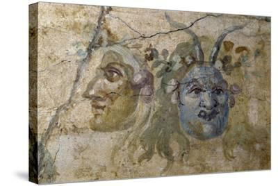 Satirical Masks from House of Farnesina, Rome, Italy BC--Stretched Canvas Print