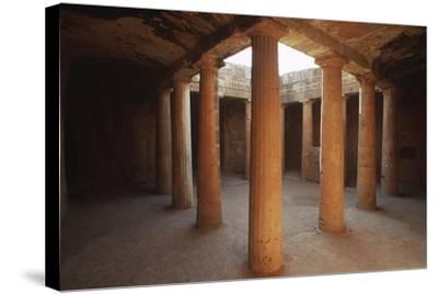 Cyprus, Paphos, Tombs of Kings, Doric Columns--Stretched Canvas Print