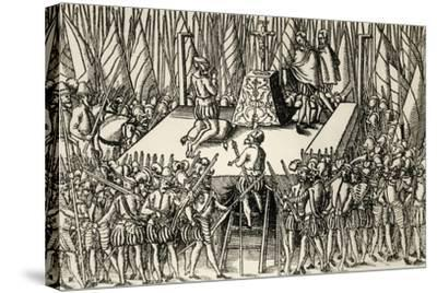 Beheading of Lamoral, Count of Egmont, and Philip De Montmorency, Count of Horn, 1568--Stretched Canvas Print