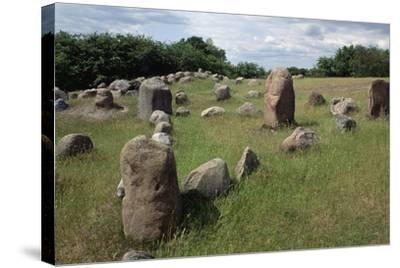 Triangular Grave, Viking Burial Site, Lindholm Hoje, Aalborg, Jutland, Denmark--Stretched Canvas Print