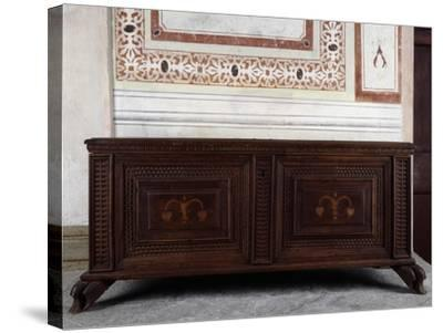 Walnut Chest, Vertemate Franchi Palace, Piuro, Lombardy, Italy, 16th Century--Stretched Canvas Print