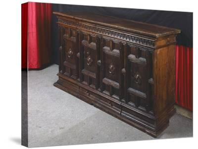 Walnut Sideboard, Italy, 16th Century--Stretched Canvas Print