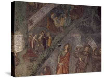 Tree of St Bonaventure, Detail of 14th Century Fresco--Stretched Canvas Print