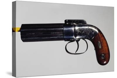 Pepperbox Pistol, Six-Barreled, Nipple Mechanism--Stretched Canvas Print