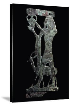 Figure of Tax, Syrian Prince Holding Up His Country's Tax, Bronze, New Kingdom--Stretched Canvas Print