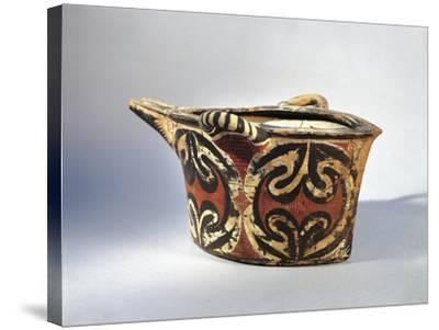 Vase with Spout in Ceramic by Kamares with Polychrome Decoration, from Palace of Festos--Stretched Canvas Print