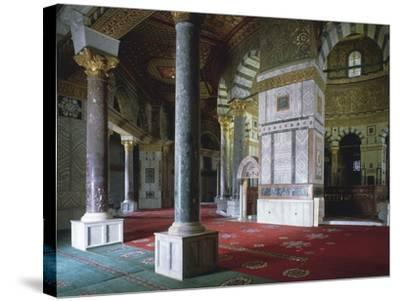 Israel, Jerusalem, Old Town, Temple Mount, Dome of Rock, Interior--Stretched Canvas Print