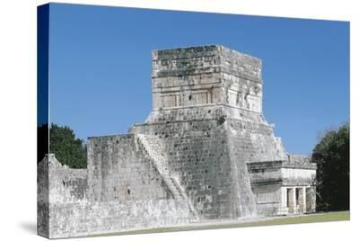 Mexico, Yucatan, Chichen Itza, Mayan Archeological Site, Great Ballcourt--Stretched Canvas Print